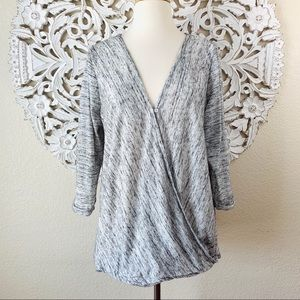 Jessica Simpson Tops - {Jessica Simpson} Gray Pullover Wrap Nursing Top